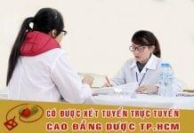 xét tuyển cao đẳng dược tphcm