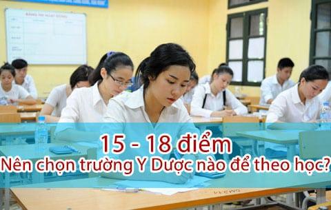 15 - 18 điểm nên chọn trường Y Dược nào để học?