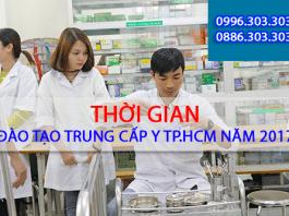 Thời gian đào tạo Trung cấp Y TPHCM.