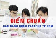 điểm chuẩn cao đẳng dược pasteur