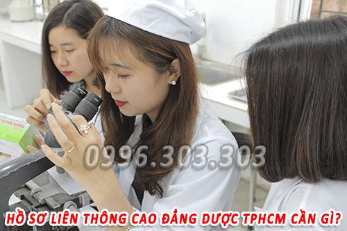 HỒ SƠ LIÊN THÔNG CAO ĐẲNG DƯỢC TPHCM 2017