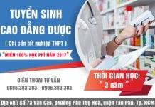Tuyển sinh Cao đẳng Dược TPHCM miễn 100% học phí năm 2017