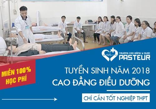 Miễn 100% học phí khi đăng ký học Cao đẳng Điều dưỡng năm 2018