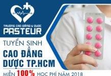 Miễn 100% học phí Cao đẳng Dược Pasteur TPHCM năm 2018