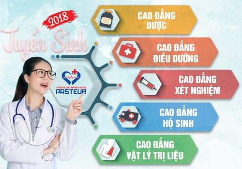Tuyển sinh các ngành đào tạo Cao đẳng Y Dược Pasteur TP.HCM 2018
