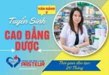 Thời gian đào tạo Văn bằng 2 Cao đẳng Dược Pasteur TP.HCM