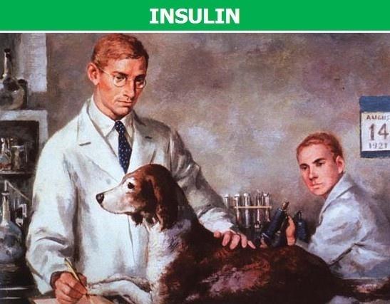 phát hiện ra Insulin trị tiểu đường của 2 Nhà sinh lý học là Fred Banting và Charles Best