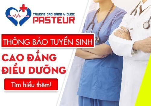 Đối tượng xét tuyển Cao đẳng Điều dưỡng Pasteur TP.HCM năm 2019