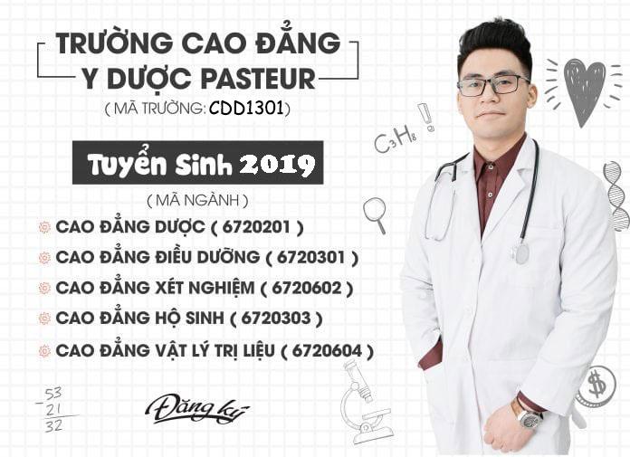 Mã trường, mã ngành Trường Cao đẳng Y Dược Pasteur