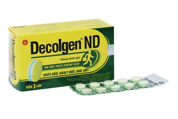 Thuốc Decolgen không nên dùng cho phụ nữ có thai hoặc cho con bú