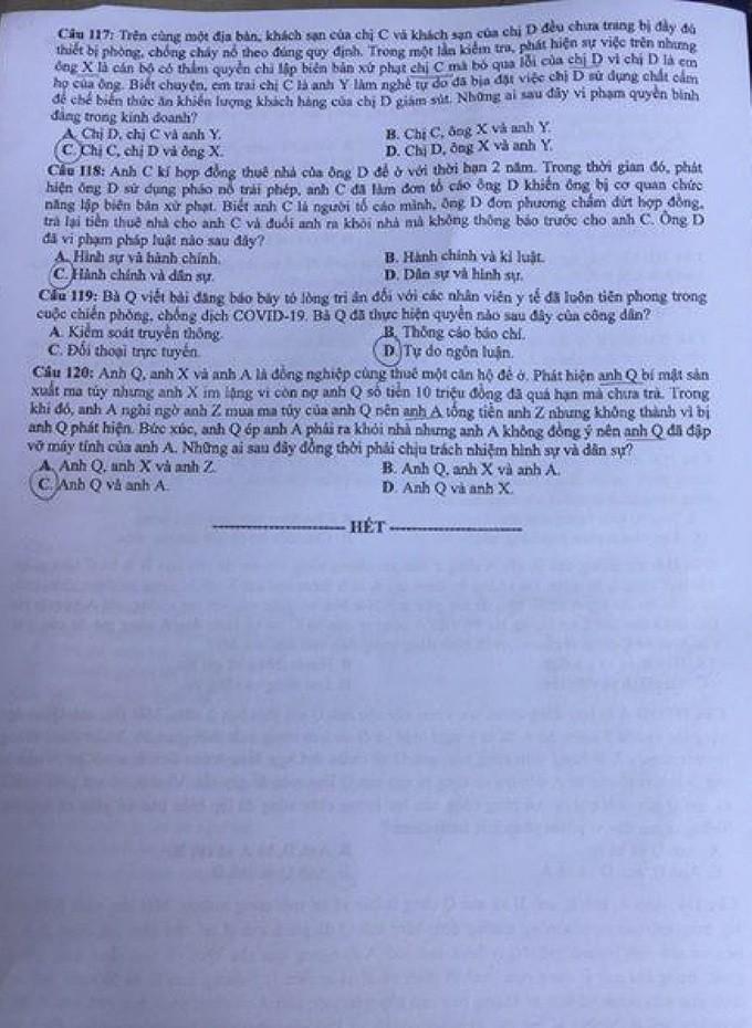 Đề thi và đáp án môn Lịch sử thi tốt nghiệp THPT